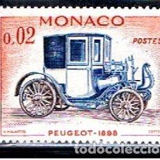 Sellos: MONACO // YVERT 558 // 1961 ... NUEVO .. COCHE PEUGEOT. Lote 241958055