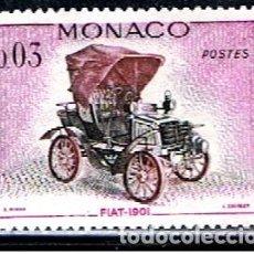 Sellos: MONACO // YVERT 559 // 1961 ... NUEVO .. COCHE FIAT 1901. Lote 241958435