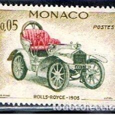 Sellos: MONACO // YVERT 561 // 1961 ... NUEVO .. COCHE ROLLS ROYCE 1905. Lote 241958715