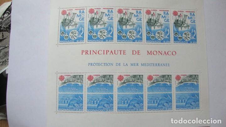 MONACO 1986 TEMA EUROPA YVERT H-34 MAS SERIE 1520/21 NUEVOS SIN CHARNELAS (Sellos - Extranjero - Europa - Mónaco)