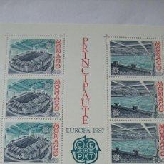 Sellos: MONACO 1987 TEMA EROPA YVERT H-37 MAS SERIE EN PAREJA 1565/66 NUEVOS SIN CHARNELAS. Lote 247413215