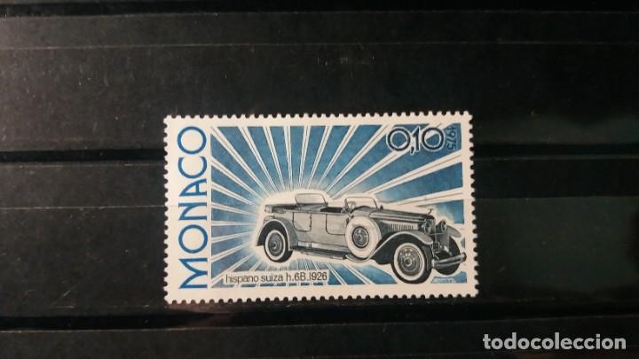 SELLO NUEVO. MODELOS DE COCHES. HISPANO-SUIZA H6B (1926). 12 NOVIEMBRE 1975. YVERT 1019. (Sellos - Extranjero - Europa - Mónaco)