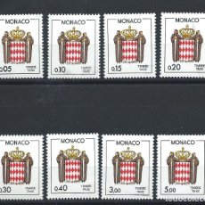 Sellos: MONACO TAXE N°75/82** (MNH) 1985 - ÉCUSSON STYLISÉ. Lote 253426175