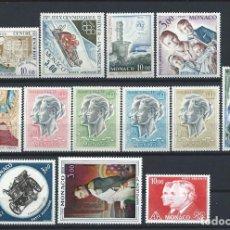 Sellos: MONACO - PA LOT 13 TIMBRES NEUF** (MNH) ENTRE 1962 ET 1982 (LOT XI). Lote 253432620