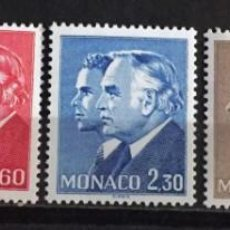 Sellos: MONACO, PRINCIPES RANIERO III Y ALBERT. Lote 253606790