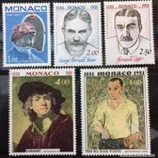 Sellos: MONACO, ANIVERSARIO DE NACIMIENTO DE HOMBRES CELEBRES. Lote 253609515