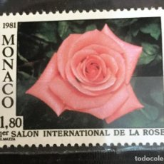 Sellos: MONACO 1º SALON INTERNACIONAL DE LA ROSA, MONTE CARLO. Lote 253609935