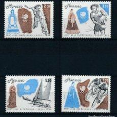 Sellos: MONACO 1988 IVERT 1645/8 *** JUEGOS OLÍMPICOS DE SEÚL - DEPORTES. Lote 253645630