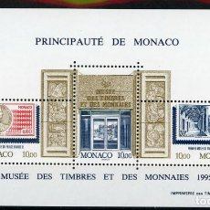 Sellos: MONACO 1995 HB IVERT 69 *** MUSEO POSTAL Y NUMISMÁTICO - MONUMENTOS. Lote 253646275