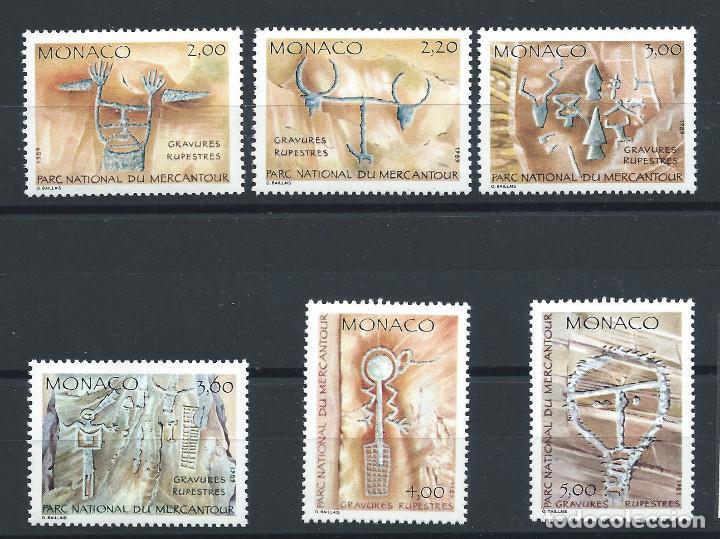 MONACO N°1663/68** (MNH) 1989 - INSCRIPTIONS RUPESTRES (Sellos - Extranjero - Europa - Mónaco)