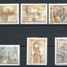 Sellos: MONACO N°1663/68** (MNH) 1989 - INSCRIPTIONS RUPESTRES. Lote 254859880