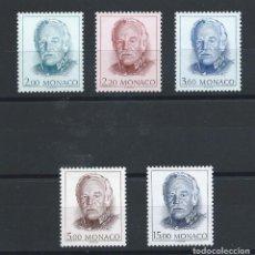 Sellos: MONACO N°1671/75** (MNH) 1989 - PRINCE RAINIER III. Lote 254861320