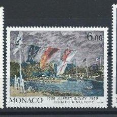 Sellos: MONACO N°1693/95** (MNH) 1989 - TABLEAUX DE PEINTRE CÉLÈBRES. Lote 254862215