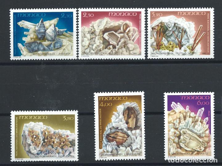 MONACO N°1730/35** (MNH) 1990 - MICROMINÉRAUX (Sellos - Extranjero - Europa - Mónaco)