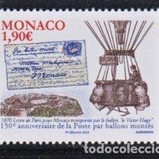 Sellos: 32.- MONACO 2020 150 ANIVERSARIO DE LOS GLOBOS AEROSTATOS MONTES. Lote 257273655