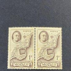 Sellos: MONACO, 1946. YVERT 298. HOMENAJE A F.D. ROOSEVELT. BLOQUE DE 2. NUEVO. SIN FIJASELLOS. Lote 265107039