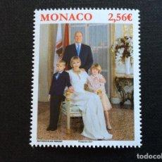 Selos: MONACO AÑO 2021. FOTO OFICIAL DE LA FAMILIA REAL. Lote 267841189