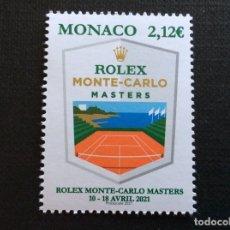 Selos: MONACO AÑO 2021. ROLEX MONTE-CARLO MASTERS DE TENIS. Lote 268783369