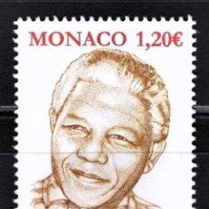 Sellos: MONACO 2018 - THE 100TH ANNIVERSARY OF THE BIRTH OF NELSON MANDELA MNH. Lote 278582863