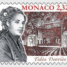 Sellos: MONACO 2020 - CHANTEURS D'OPÉRA - FIDES DEVRIES MNH. Lote 278584358