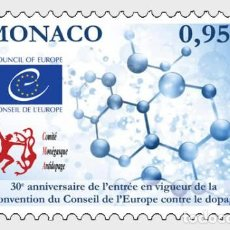 Sellos: MONACO 2020 - 30TH ANN OF THE ENTRY INTO FORCE OF THE COUNCIL OF EUROPE ANTI-DOPING CONVENTION. Lote 278585208
