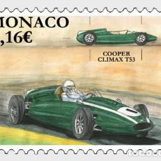 Sellos: MONACO 2020 - LEGENDARY RACE CARS - COOPER CLIMAX T53 MNH. Lote 278585393