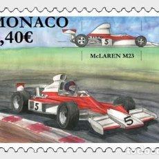Sellos: MONACO 2020 - LEGENDARY RACE CARS - MC LAREN M23 MNH. Lote 278585508