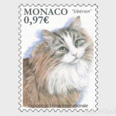 Sellos: MONACO 2020 - INTERNATIONAL CAT SHOW MNH. Lote 278585898