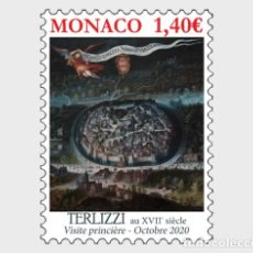 Sellos: MONACO 2020 - ANCIENT GRIMALDI STRONGHOLDS - TERLIZZI MNH. Lote 278586383
