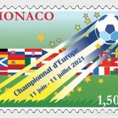 Sellos: MONACO 2021 - EUROPEAN FOOTBALL CHAMPIONSHIP MNH. Lote 278586913