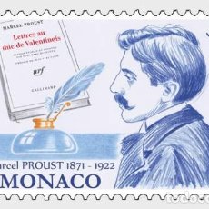 Sellos: MONACO 2021 - 150TH ANNIVERSARY OF THE BIRTH OF MARCEL PROUST MNH. Lote 278587078