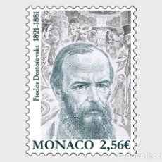 Sellos: MONACO 2021 - BICENTENARY OF THE BIRTH OF FYODOR DOSTOYEVSKY MNH. Lote 278587208