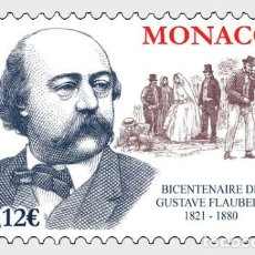 Sellos: MONACO 2021 - BICENTENARY OF THE BIRTH OF GUSTAVE FLAUBERT MNH. Lote 278587353