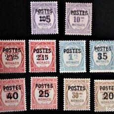 Sellos: MONACO YVERT 140 - 153 ** TIMBRES TASA TAXE. Lote 280144968