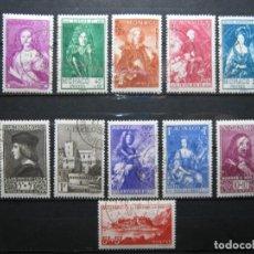 Sellos: MÓNACO 1939 YVERT 185-194 MICHEL 190-99 USADOS PRIMER DÍA EN LUJO!!! VALOR 450€!!!. Lote 283455493