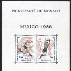 Sellos: LIQUIDACIÓN.- MÓNACO (1986). COPA DEL MUNDO DE FÚTBOL MÉXICO. NUEVO*** SIN FIJASELLOS. PERFECTO.. Lote 287252283