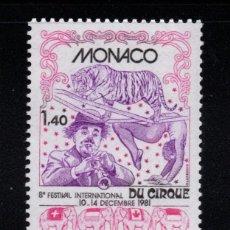 Sellos: MONACO 1298** - AÑO 1981 - FESTIVAL INTERNACIONAL DEL CIRCO. Lote 287344183