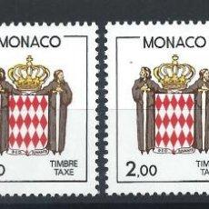 Sellos: MONACO TAXE N°86/89** (MNH) 1986 - ARMOIRIES. Lote 287983913