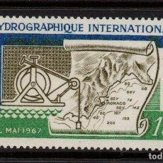 Sellos: MONACO 731** - AÑO 1967 - CONFERENCIA HIDROGRAFICA INTERNACIONAL. Lote 288086748