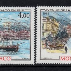 Sellos: MONACO 1492/93** - AÑO 1985 - MONACO, LA BELLE EPOQUE. Lote 288569258