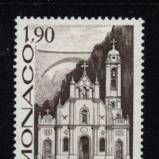 Sellos: MONACO 1573** - AÑO 1987 - CENTENARIO DE LA IGLESIA DE SANTA DEVOTA. Lote 288569893