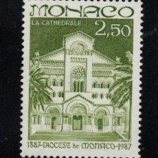 Sellos: MONACO 1574** - AÑO 1987 - CENTENARIO DE LA DIOCESIS DE MONACO. Lote 288569978