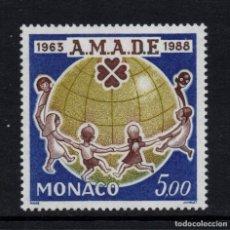 Sellos: MONACO 1625** - AÑO 1988 - 25º ANIVERSARIO DE LA ASOCIACION MUNDIAL DE AMIGOS DE LA INFANCIA. Lote 288570173
