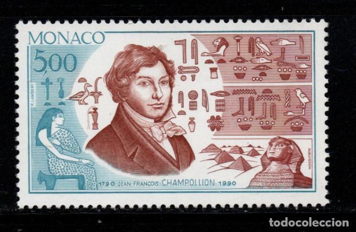 MONACO 1740** - AÑO 1990 - BICENTENARIO DEL NACIMIENTO DE JEAN FRANCOIS CHAMPOLLION (Sellos - Extranjero - Europa - Mónaco)