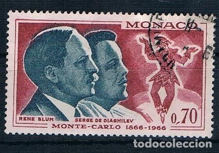 MONACO 1966 YVES 695 USADO (Sellos - Extranjero - Europa - Mónaco)