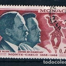 Sellos: MONACO 1966 YVES 695 USADO. Lote 288577918