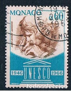 MONACO 1966 YVES 701 USADO (Sellos - Extranjero - Europa - Mónaco)