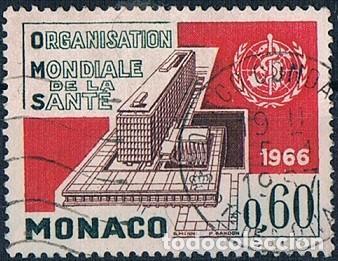 MONACO 1966 YVES 704 USADO (Sellos - Extranjero - Europa - Mónaco)