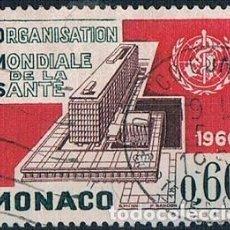 Sellos: MONACO 1966 YVES 704 USADO. Lote 288578138