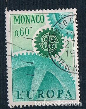 MONACO 1967 YVES 730 USADO (Sellos - Extranjero - Europa - Mónaco)